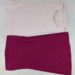 INTIMATELY FREE PEOPLE 2PC Back Cutout Tube Top XS